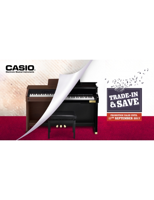 Trade In Campaign-Looking for Grand Hybrid but limited budget? Now you can trade in old Casio/ Non-Casio/ Acoustic/ Digital Piano to trade in Grand Hybrid Digital Piano GP-500/300/AP-700 for better rebate!