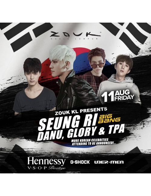CASIO Timepiece-We're proud to be part of the event in Zouk featuring Seungri from Big Bang, Danu, Glory, TPA and 4 other guests' appearance!
