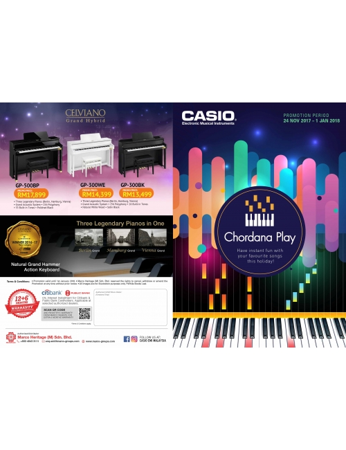 Casio Musical-Year End Promotion~ Festive seasons filled with music, joyous chorus lively lyric, celebration all around, great promotions to be found!